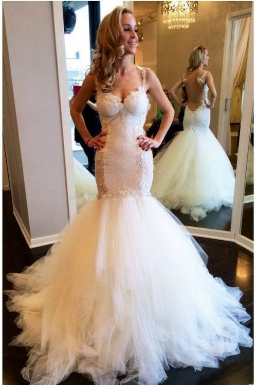 illusion-back-mermaid-wedding-dresses-with-lace-bodice