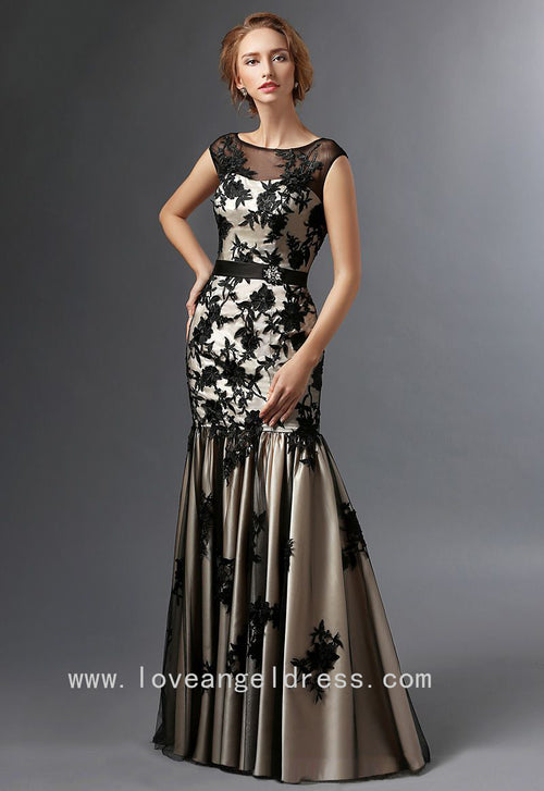 illusion-boat-neck-black-floral-lace-mother-of-the-brides-dresses-cap-sleeves