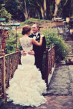 illusion-lace-mermaid-wedding-dress-with-tierd-ruffles-train-3