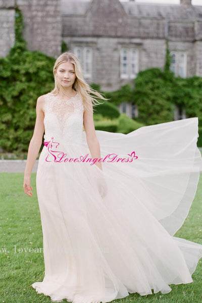 illusion-lace-sleeveless-chiffon-boho-wedding-dresses