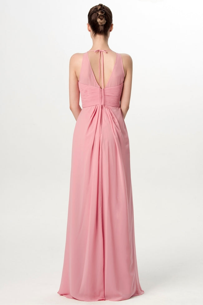 illusion-neckline-long-chiffon-bridesmaid-dresses