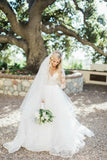 illusion-neckline-tulle-wedding-dress-with-lace-sleeves-4