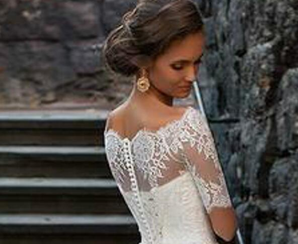 Illusion Off-the-shoulder Princess Wedding Dress With