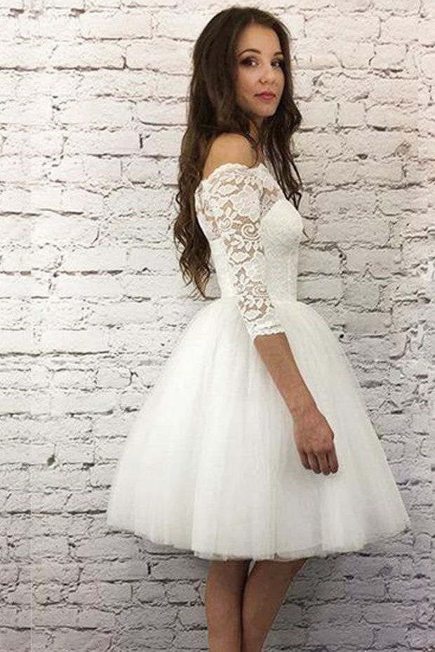 ivory-short-wedding-dresses-lace-off-the-shoulder-bodice-1