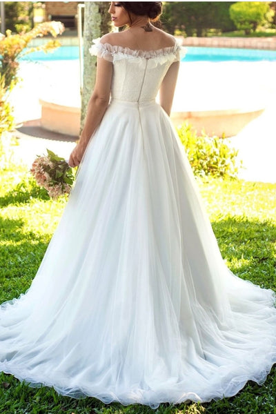 ivory-tulle-wedding-gown-with-ruffles-illusion-neckline-1
