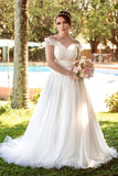 ivory-tulle-wedding-gown-with-ruffles-illusion-neckline