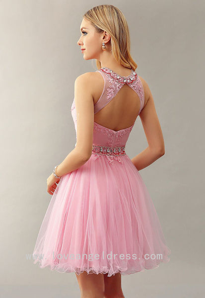 jewelry-neckline-lace-pink-homecoming-dress-gown-short-1