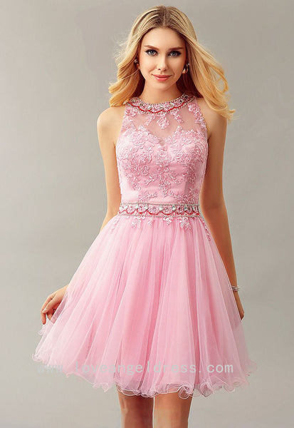 jewelry-neckline-lace-pink-homecoming-dress-gown-short