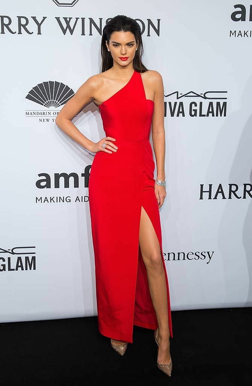 kendall-jenner-asymmetric-one-shoulder-red-carpet-dresses-with-slit-side
