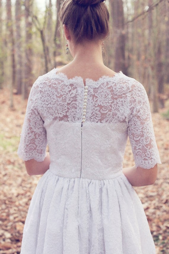 knee-length-wedding-dresses-with-lace-short-sleeves-1