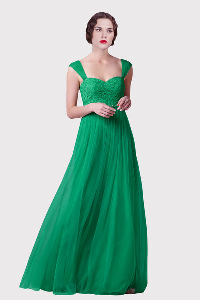 lace-and-tulle-a-line-long-green-prom-dresses-with-beaded-sash
