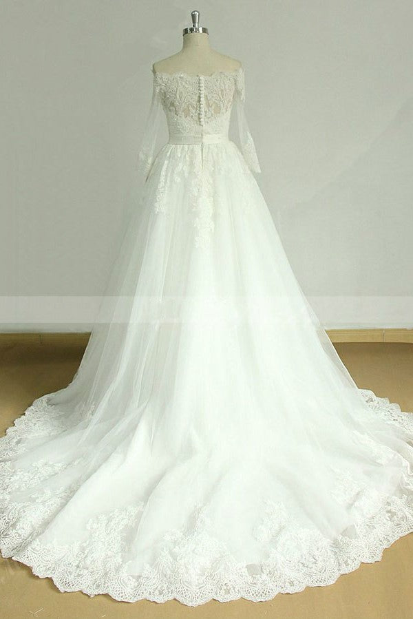 lace-off-the-shoulder-bridal-dress-with-sleeve-1