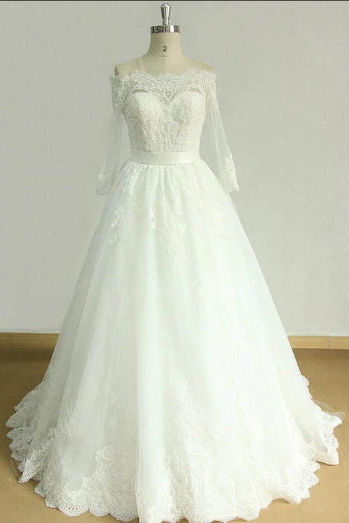 lace-off-the-shoulder-bridal-dress-with-sleeves