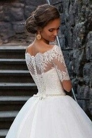 lace-off-the-shoulder-wedding-dresses-ivory-tulle-skirt-2