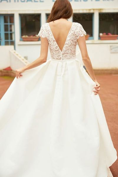lace-satin-high-low-bridal-gown-with-sleeves-1