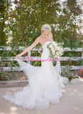 lace-sweetheart-mermaid-bride-dresses-with-ruffled-skirt