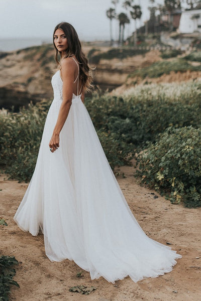 lace-tulle-beach-wedding-dress-with-strappy-back-2