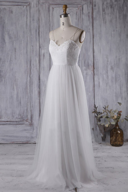Deep V-neck Satin Bride Dresses for Wedding vestido de boda