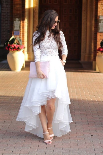 lace-two-piece-wedding-gown-with-organza-high-low-skirt-1