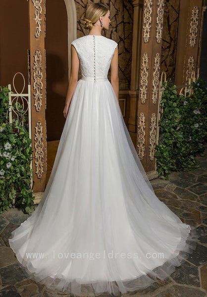 lace-v-neckline-modest-a-line-wedding-dress-with-stones-belt-1