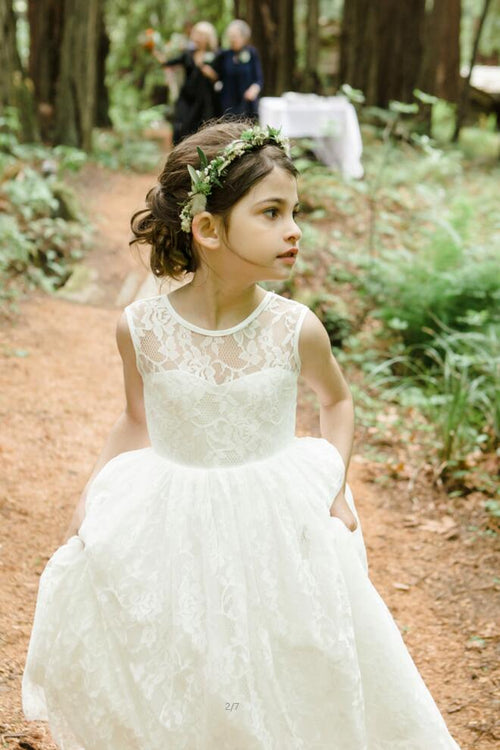 lace-wedding-flower-girl-bridesmaid-party-dress-long