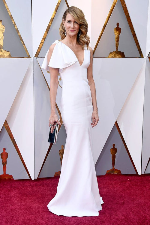 laura-dern-white-long-celebrity-dresses-for-the-oscars