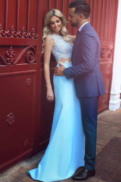 light-blue-lace-satin-mermaid-prom-dress-two-piece-1