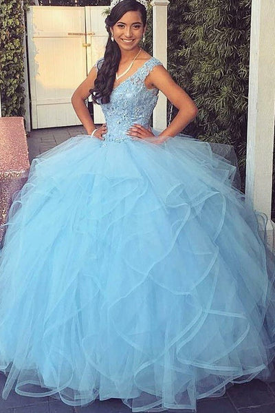 light-blue-tulle-ball-gown-lace-v-neckline-sweet-girl-16-quinceanera-dresses