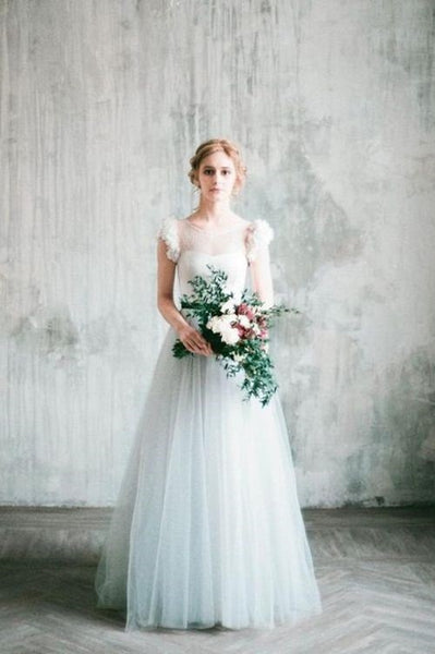 light-gray-wedding-dress-with-chiffon-flowers-sleeves-1