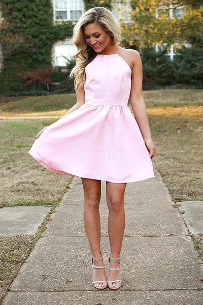 light-pink-halter-party-gown-with-short-satin-skirt