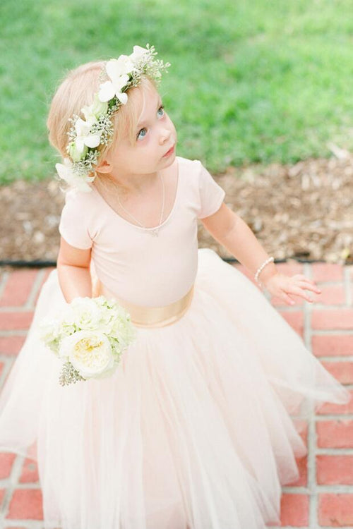 light-pink-tulle-skirt-flower-girl-dresses-with-sleeves