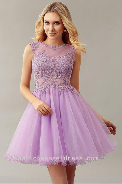 lilac-lace-bead-sleeveless-custom-homecoming-dress-short