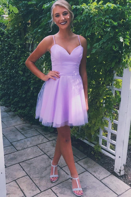 lilac-sweetheart-homecoming-gowns-with-tulle-skirt