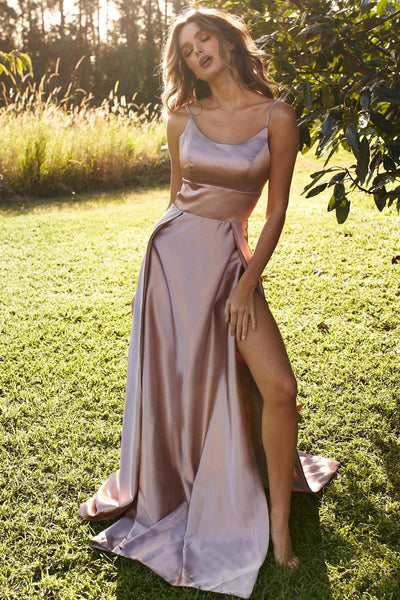fbcacac1 Long Mauve Prom Dress with Adjustable Straps – loveangeldress