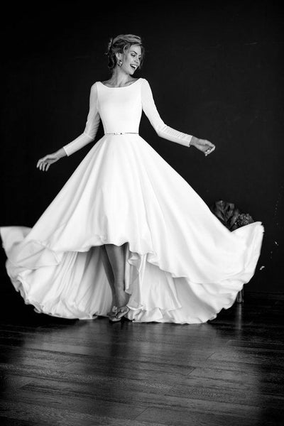 long-sleeved-high-low-wedding-gown-boat-neckline-vestido-de-novia-1