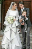long-sleeves-white-wedding-gown-with-flounced-skirt-2