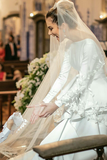 long-sleeves-white-wedding-gown-with-flounced-skirt-3