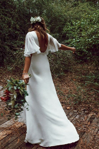 loose-sleeves-boho-bridal-dress-with-plunging-neckline-1