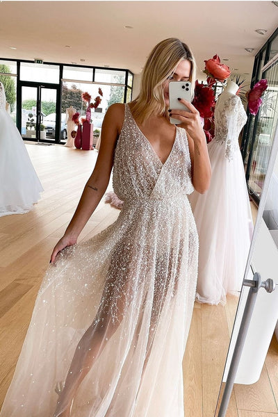 luxurious-beading-beach-wedding-dresses-for-summer