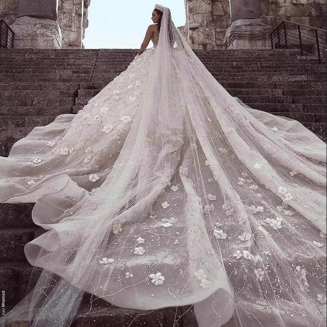 luxury-court-wedding-dress-beaded-flowers-rhinestones-long-train-1