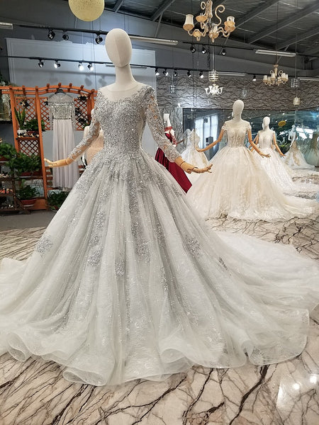 magnificent-stones-wedding-dresses-long-sleeves-illusion-neck-4