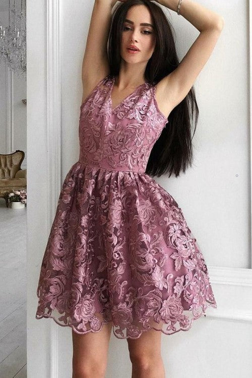mauve-lace-short-homecoming-dresses-v-neckline-vestido-de-fiesta-1