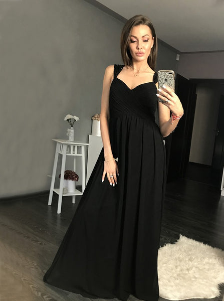 maxi-long-black-chiffon-prom-gowns-with-beaded-cap-sleeves-1