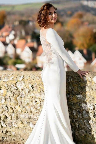 mermaid-spandex-long-sleeved-wedding-dress-with-crystals-sheer-back-3