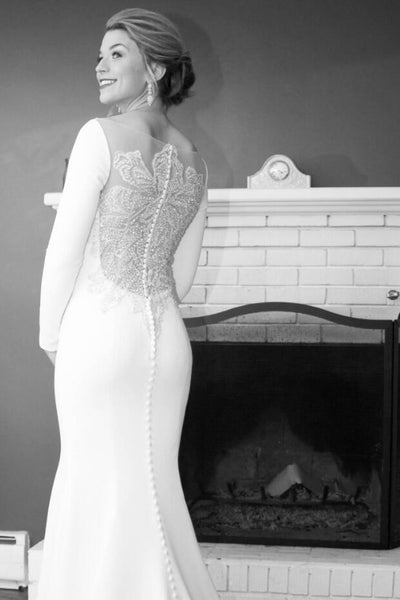 mermaid-spandex-long-sleeved-wedding-dress-with-crystals-sheer-back-4