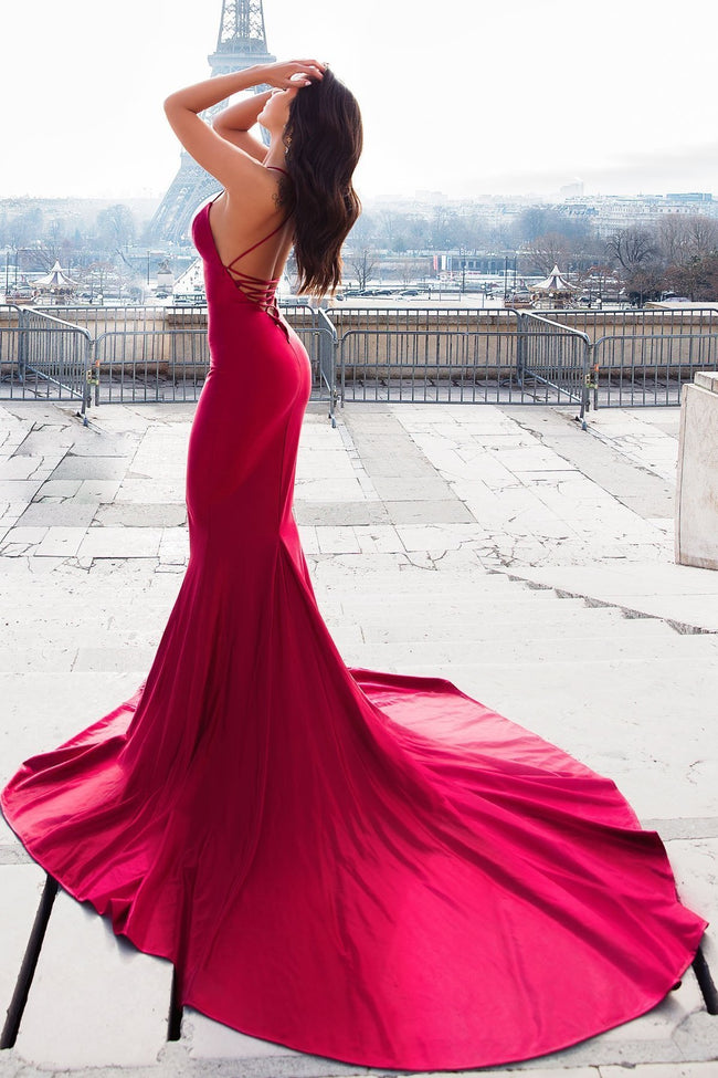 6d76e7f55c5 mermaid-style-evening-dress-with-lace-up-backless-