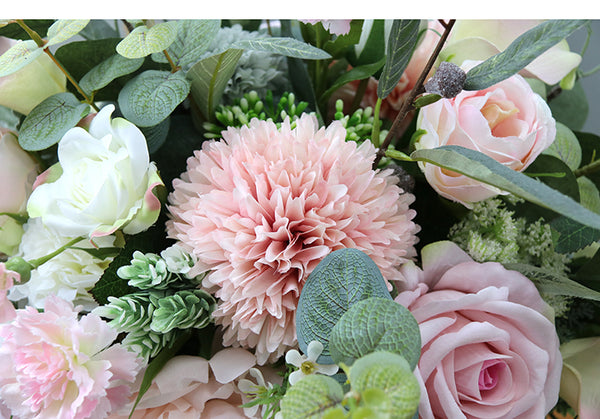Mixed Artificial Flower Bouquets For Bridal Holding Flowers Wedding