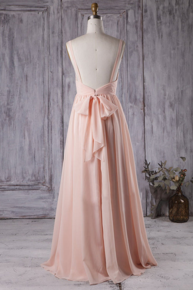 modern-a-line-blush-pink-bridesmaid-dress-with-chiffon-floor-length-skirt-1