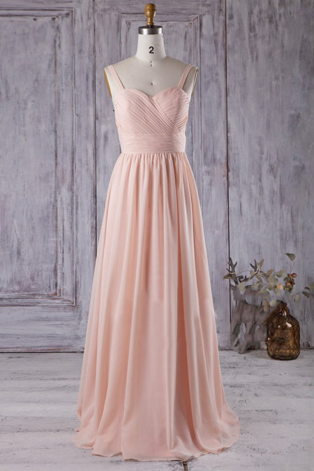 Desert Rose Bridesmaid Dresses with Hollow Back Feature