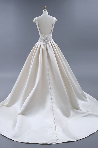 modest-light-champagne-wedding-dresses-ball-gown-with-beaded-sash-1